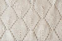 crocheted doily, white