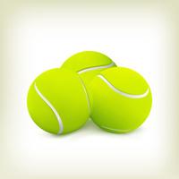Three tennis balls. Vector