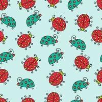 seamless lady bug illustration background pattern