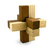 Sixth sense - logic puzzle isolated on white