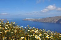 view over the crater of santorini island, greece