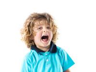 Little boy screaming.