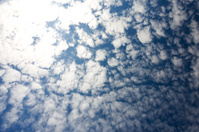 Clouds and blue sky in Tokyo.
