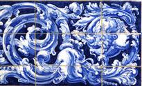 Azulejos detail from Plaza de Espana, Sivilla, background
