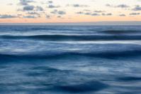 Dusk scenics at coast of Atlantic Ocean in Portugal