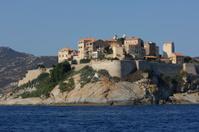 Calvi village on the sea