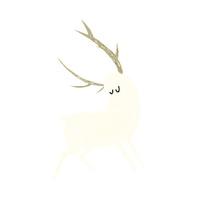 cartoon white stag
