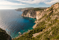 Western coast of Zakynthos, Greece