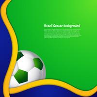 Brazil stylish wave colors concept Soccer ball background illust