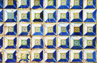 Background of old azulejos from Sevilla, Spain