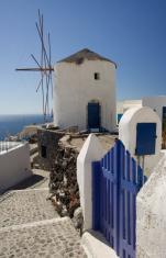Windmill in Oia, Greece