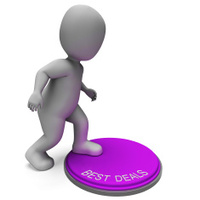 Best Deals Button Shows Bargains And Discounts