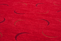 fingernail moon pattern textile, front side