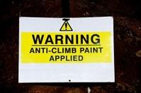 Yellow warning sign.