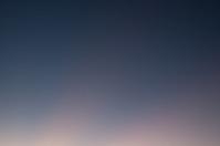 Night sky at sunset in desert