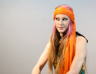 Hippie Female Looking Off Camera Left
