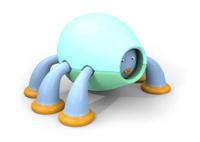 Shy, hiding Japanese kawaii style character 3D illustration