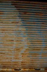 rusted grunge corrugated metal door background