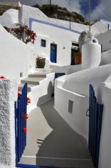 private greek home on santorini island