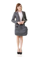 Full length portrait of Asian business woman