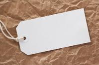 White Luggage Tag