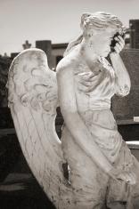 Ancient angel sculpture