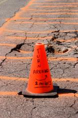 Warning - Orange Cone
