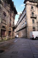 Street near south entrance  - Santiago de Compostela, Spain