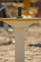 Pedestal of beach umbrella