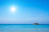 Blue sea and white sand beaches Andaman Sea, Thailand