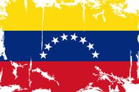Venezuelan grunge flag. Vector illustration