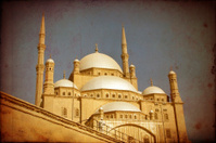 Mohamed Ali mosque,Cairo,grunge effect