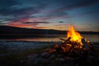 Summer Campfire at sunset