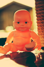 Plastic toy doll