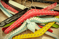 Retro styled image of old dress hangers