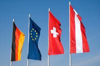 Four European Flags