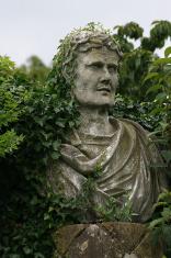 Overgrown Italian Marble statue