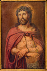 Bruges - Paint of Christ in bond from st. Giles
