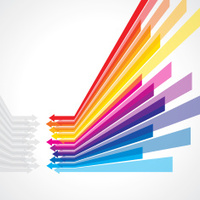 arrows vector for business grow idea