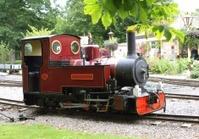 vintage train on railway