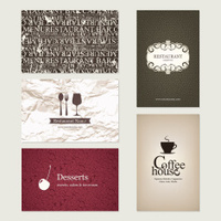 Set of 5 detailed business cards