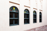 Close up of arabic style windows