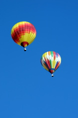 Hot Air Balloon in Blue Sky