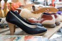 Heels on a flea market