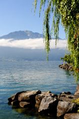 Geneve lake in Montreux