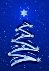 Stylized Christmas Tree Illustation - Blue