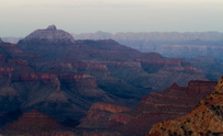 evening falls on Grand Canyon