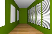 green gallery room