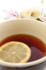 lemon tea and flower