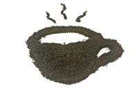 Coffee grounds, coffee cup shape.